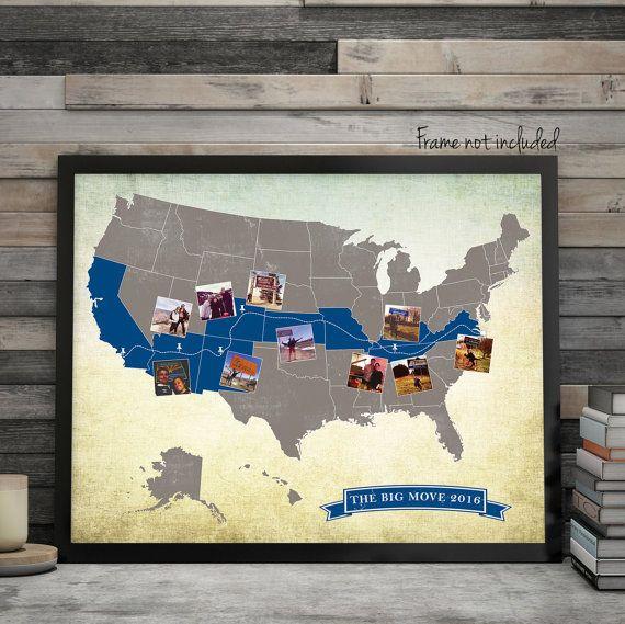 Custom USA Road Trip Map USA Travel Map Long Distance Love