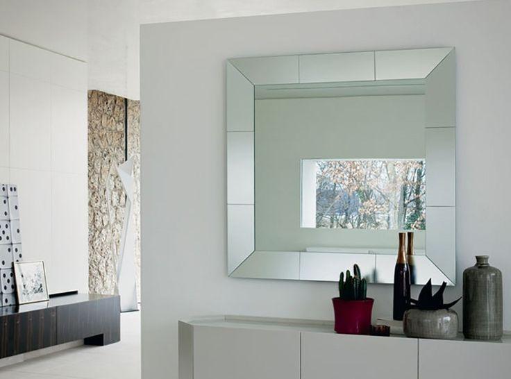 Regal Italian Square Wall Mirror by Cattelan Italia - $825.00
