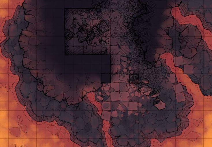 Volcanic Island Map Dnd
