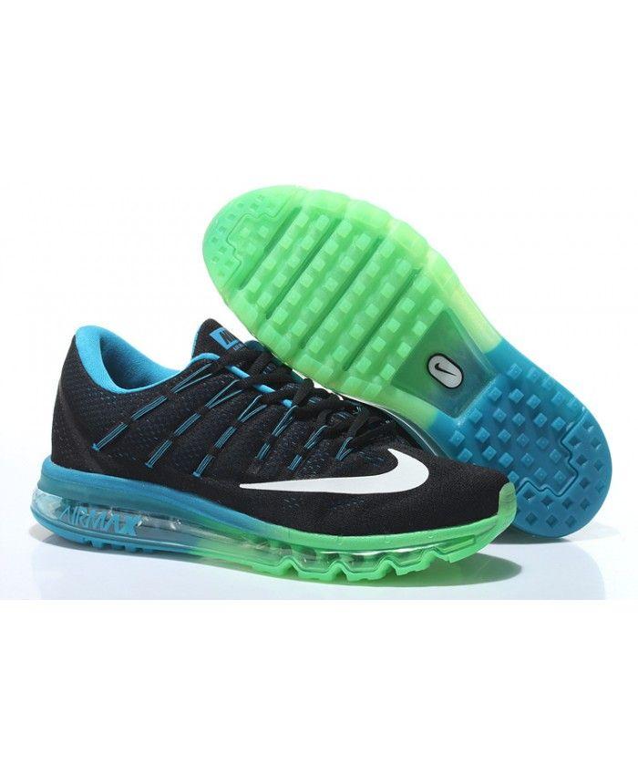 acheter pas cher 95f7b 92cbd Homme Nike Air Max 2016 Noir Bleu Grass Vert Chaussures ...
