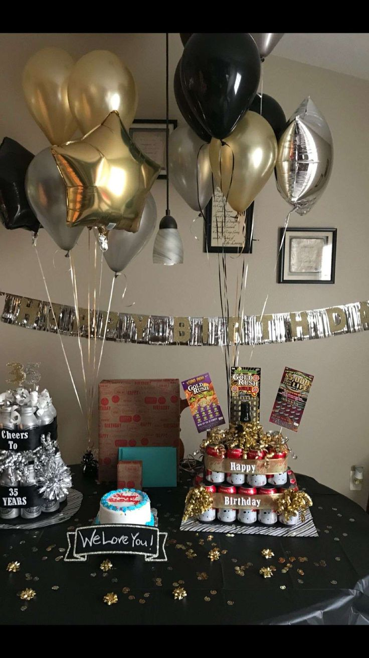 40th birthday party ideas for husband at home with images