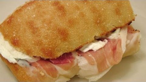 Prosciutto & Mozzarella Sandwich Recipe - Laura in the Kitchen - Internet Cooking Show Starring Laura Vitale