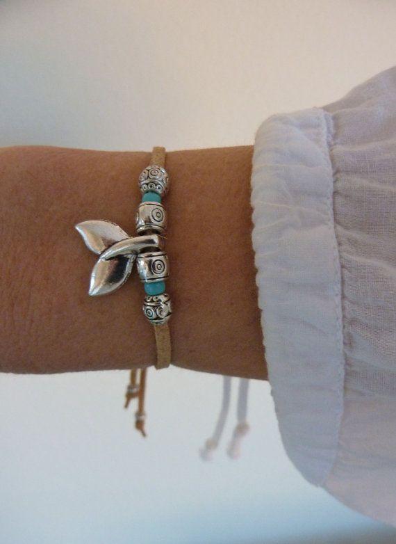 mermaid bracelet , beachcomber natural faux suede bracelet , mermaid jewelry, beach bohemian bracelet