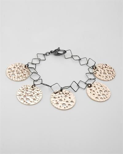 Superb Bracelet In  Gold Plated Silver  Superb bracelet beautifully designed in 14K gold plated 925 silver. Total item weight 14.7g. Length 7.5 inch.