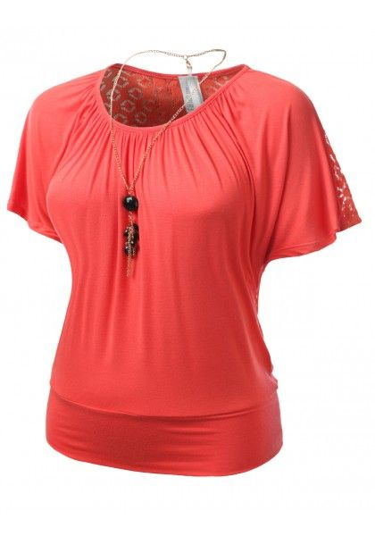 Short Leeve Blouse with Elastic Waist Band - New Arrival