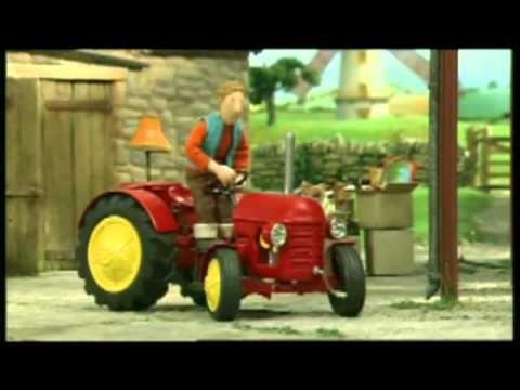 kicsi piros traktor magyarul - YouTube
