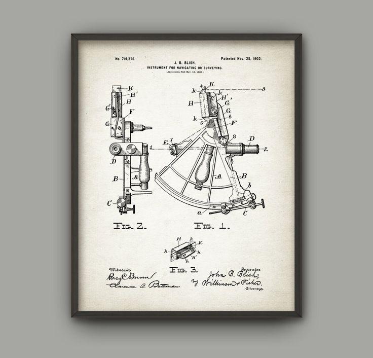 Sextante patente impresa - diseño de sextante de 1902 - navegación marina - náutica observación instrumento - historia Naval - latitud - longitud  Este cartel patente impreso utilizando tintas de archivo de alta calidad en papel con un acabado mate suave. Un regalo fantástico o una adición fabulosa a su hogar!  Por favor elige entre diferentes colores y tamaños.  ---------------------------------------------------------------------------------------------  TARIFA plana de envío: Cualquier…