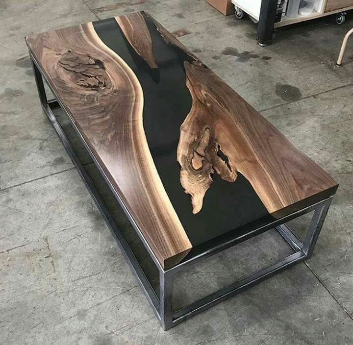 amazing table with resin inlay