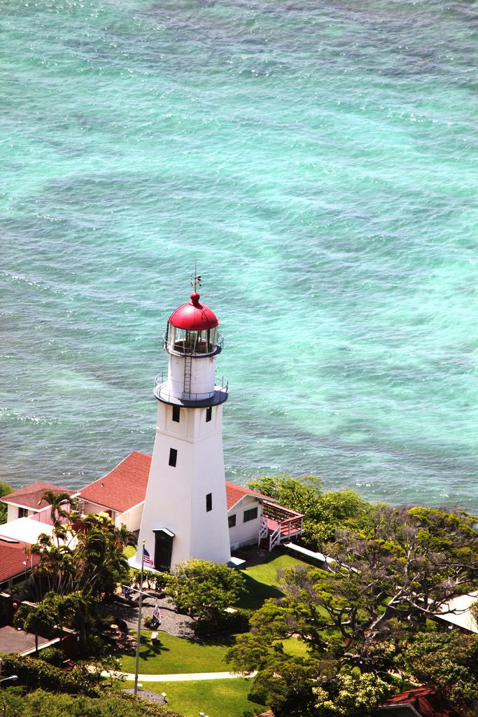 Diamond Head Lighthouse is a United States Coast Guard facility located on the island of Oahu in the State of Hawaii. It was listed on the National Register of Historic Places in 1980. The lighthouse was featured on a United States postage stamp in June 2007.
