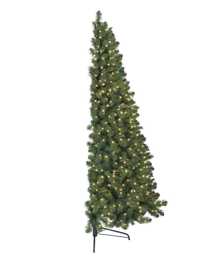 Downsizing by half ? Maybe a Half Wall/ flat back Christmas Tree - is right for you