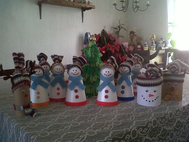 Adornos navide os con tubos vacios de papel y otros con - Adornos de mesa navidenos ...