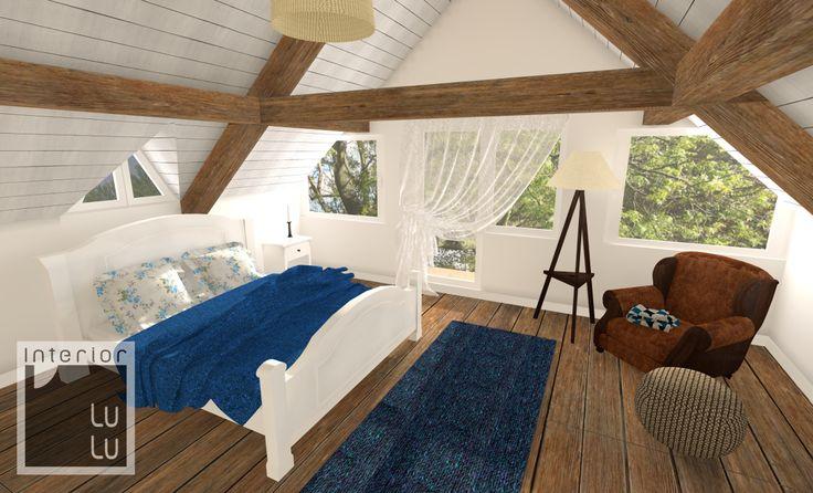 Sypialnia w stylu country, sypialnia w stylu wiejskim