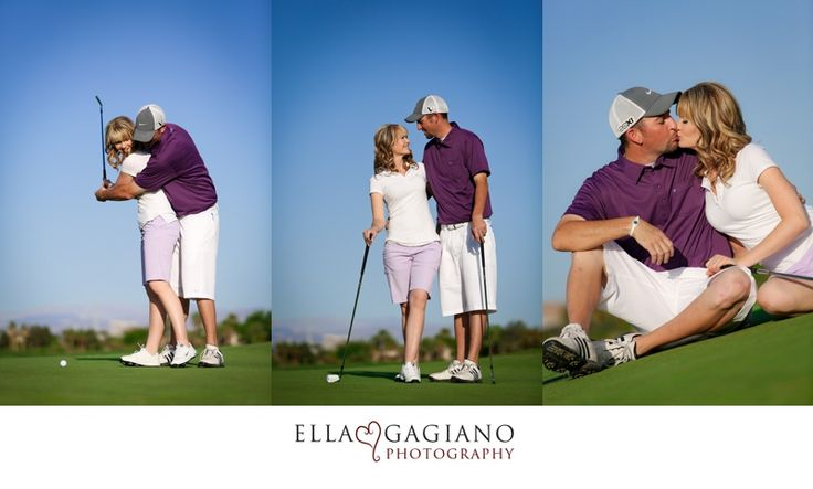 Ella Gagiano Photography engagement photos las vegas golf theme