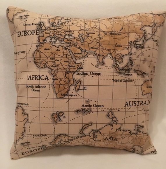 23 best trade commodities images on pinterest antique maps fryetts world map natural vintage fabric cushion cover gumiabroncs Images