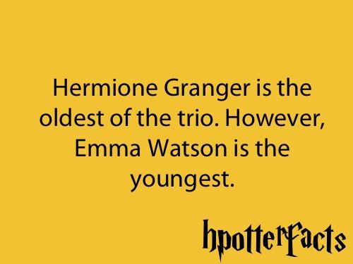 Harry Potter Facts Hermione Granger Emma Watson