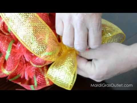 how to decorate a christmas tree with mesh youtube