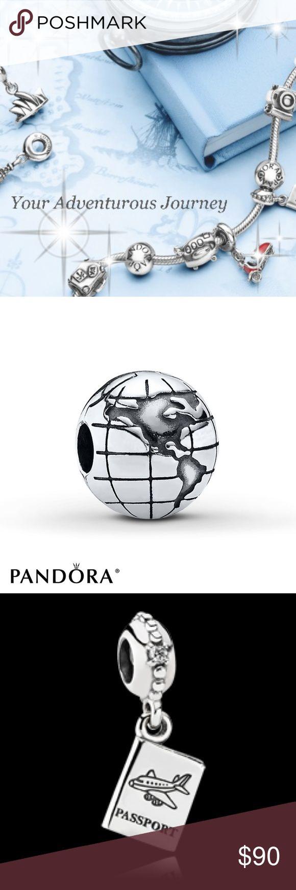 NEW TRAVEL ADVENTURE PANDORA GIFT SET NEW TRAVEL ADVENTURE PANDORA GIFT SET PANDORA GLOBE CLIP, PANDORA PASSPORT,  PANDORA SUITCASE TRAVEL ADVENTURE SET. Pandora Jewelry Bracelets
