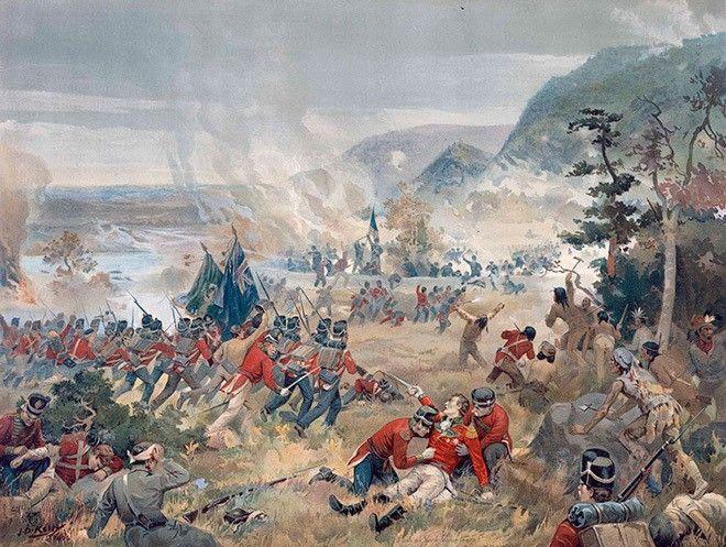 История США в семи периодах | Arzamas. Битва на Куинстонских высотах. Картина Джона Дэвида Келли