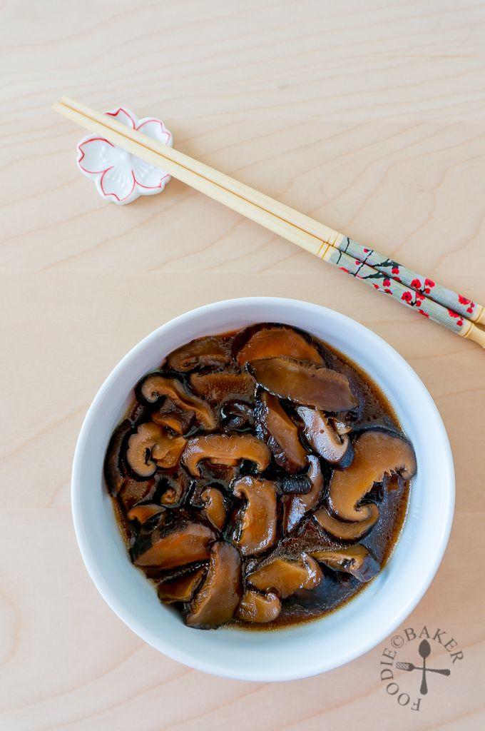Chinese Braised Mushrooms / The Foodie Baker /