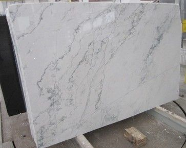 Calacatta Quarzite - kitchen countertops - philadelphia - Stone Park USA Inc. Subs for marble w/o the maintenance.
