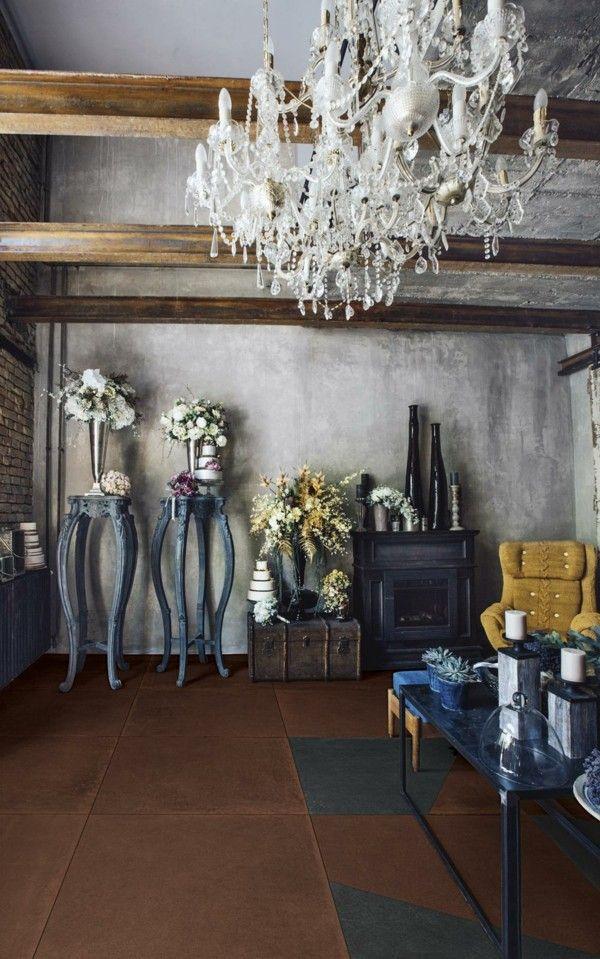 modern einrichten patina wandfarbe wohnzimmer ideen - wandfarben wohnzimmer modern