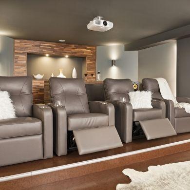 La grande classe pour le cinéma maison - Sous-sol - Inspirations - Cinéma maison - Décoration et rénovation - Pratico Pratiques