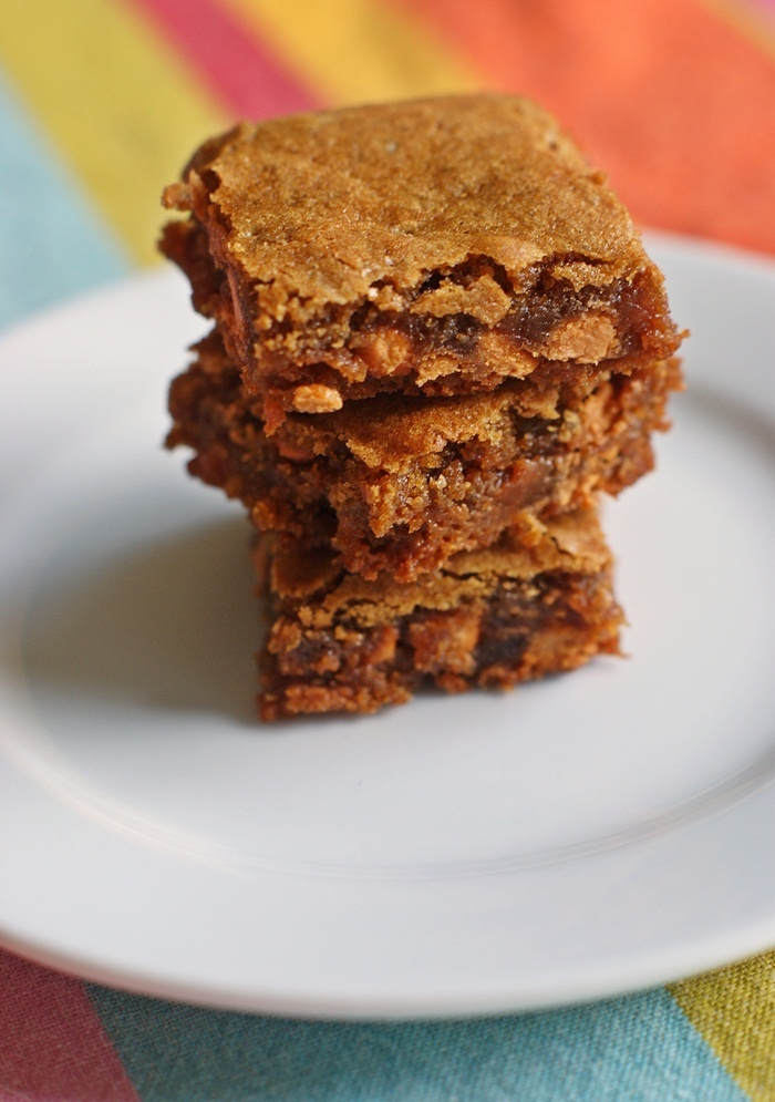 Salted Butterscotch Blondies--no mixer, make with spoon, love the ease ...