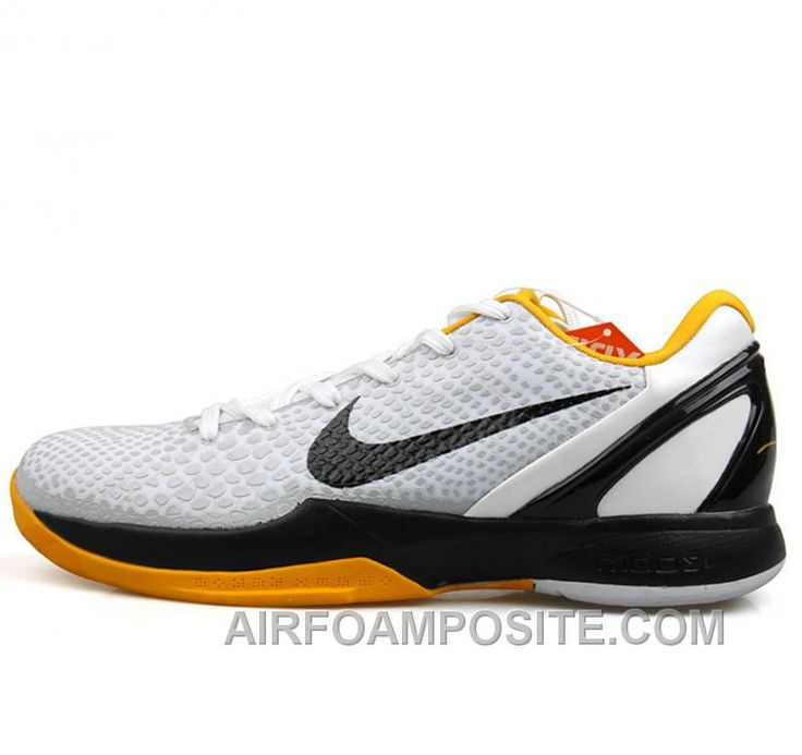 Online Nike Kobe VIII 8 Zoom Low White Black Yellow Shoes