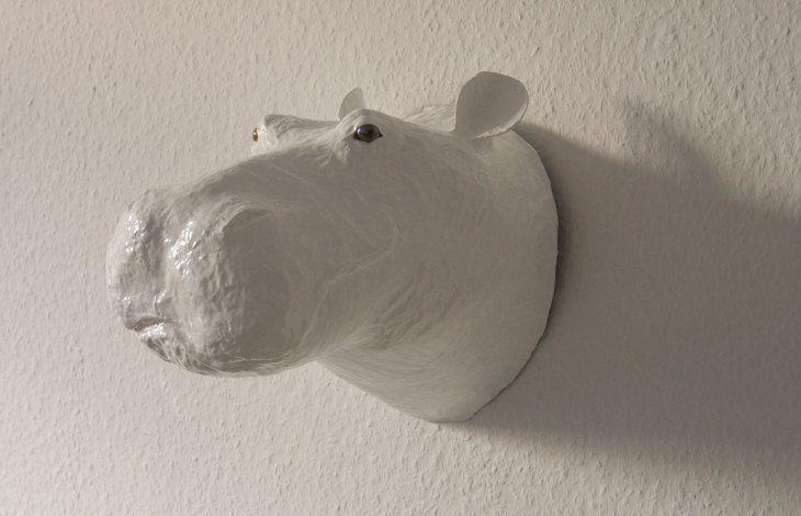 DIY-Nilpferdkopf aus Pappmaché (aka Tadaaa!)