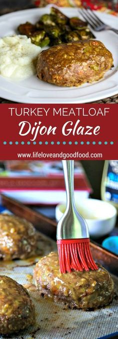 Turkey Meatloaf with Honey Dijon Glaze | Life, Love, and Good Food