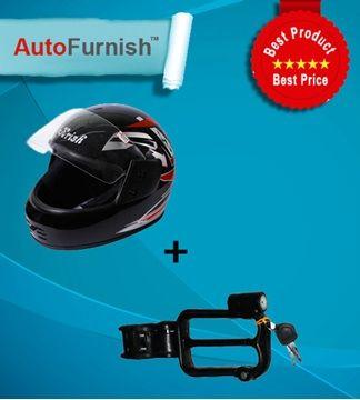 Autofurnish Bike Safety Combo - Helmet, Helmet Lock   #autofurnish   #car   #mobile   #holder   #combo   #offers   #best   #automotive   #auto   #accessories   #car   #stand   #charger #helmet   #lock