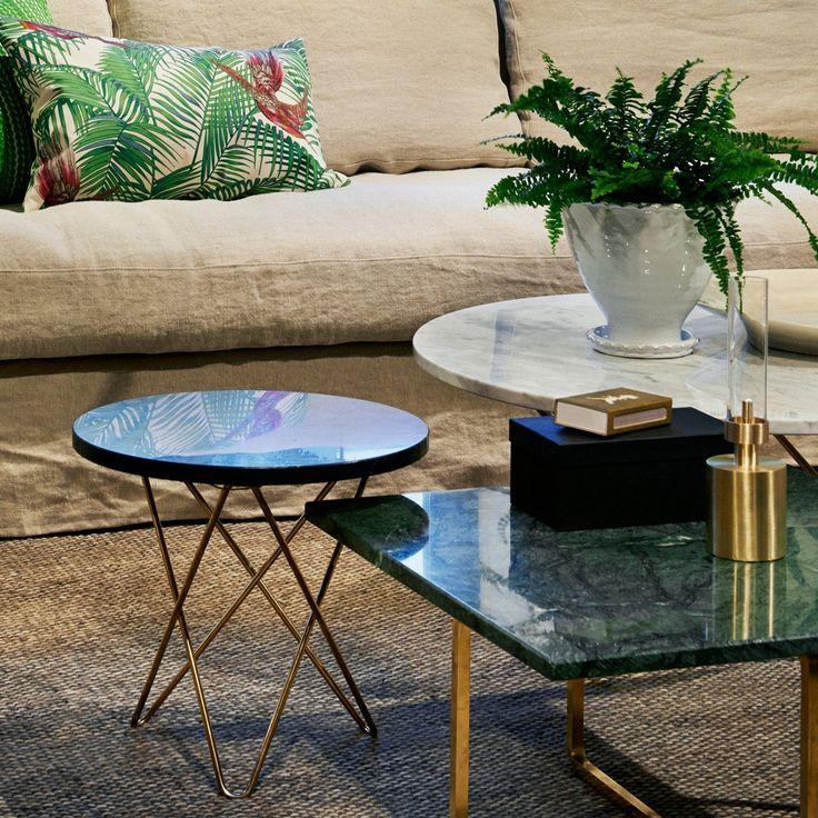 Svenssons i Lammhult - Möbler - Varumärke / OX Denmarq / Mini O Table / grön marmor med svart stativ