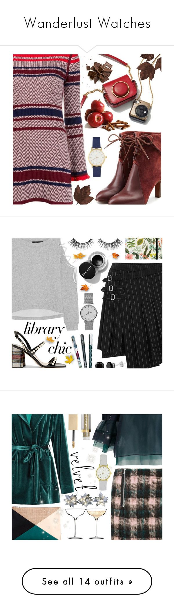 """""""Wanderlust Watches"""" by ana3blue on Polyvore featuring Misha Nonoo, Chloé, McQ by Alexander McQueen, W118 by Walter Baker, Miu Miu, Vera Bradley, Berylune, Markus Lupfer, Sacai and LUISA BECCARIA"""