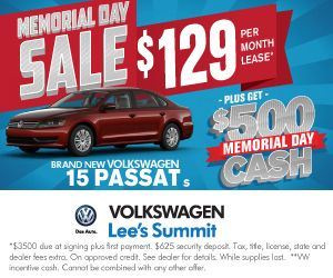 Check out VW Lee's Summit Memorial Day Specials!! #vw #vwleasing #vwkansascity