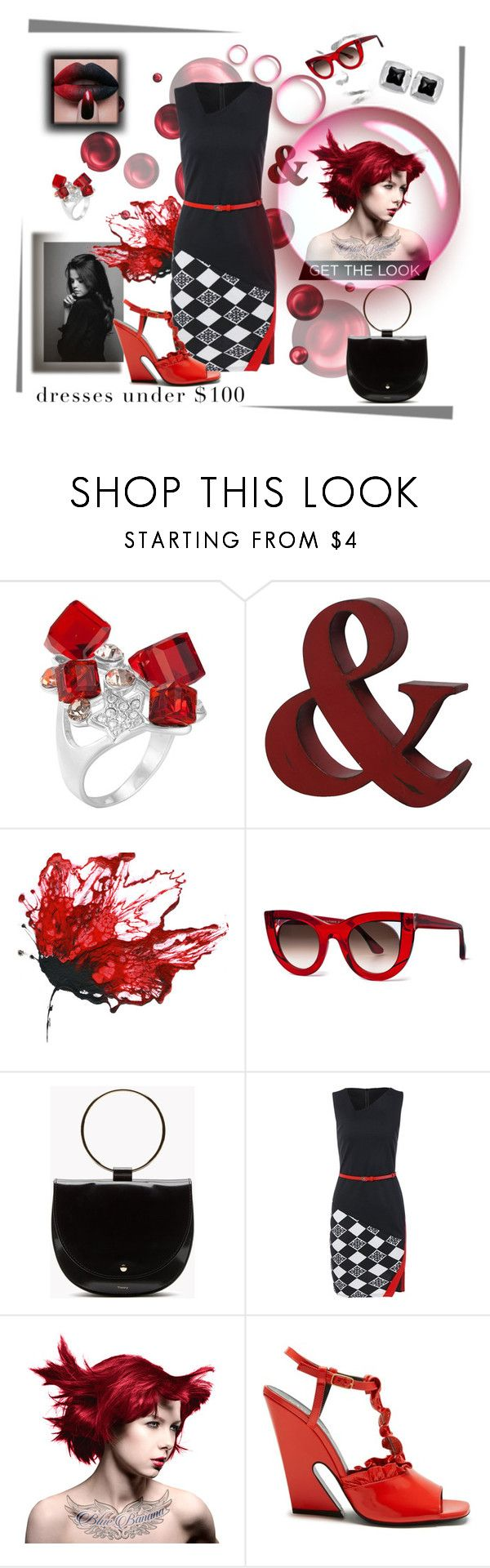 """""""Red &  Black"""" by beatrice-gonzalez ❤ liked on Polyvore featuring Thierry Lasry, Manic Panic NYC, Mulberry and Bulgari"""