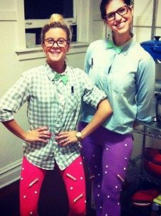 "Easy Halloween Costume Idea - SMARTY PANTS.... glue SMARTIES candies to your ""studious"" outfit.."