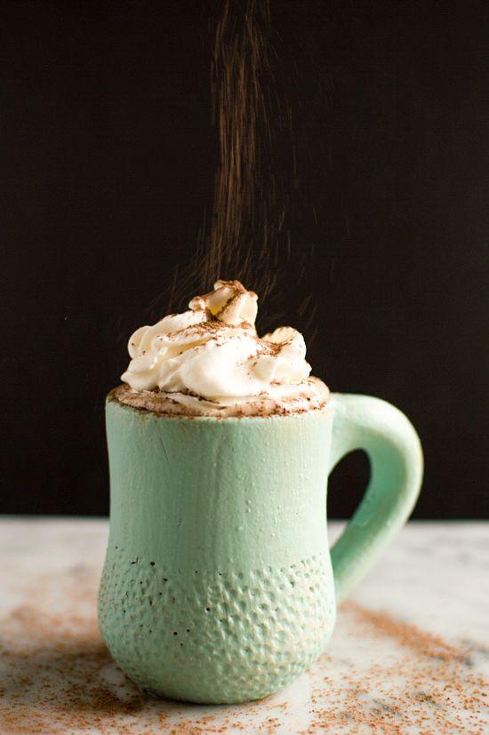 Coconut Kahlua Hot Chocolate   healthynibblesandbits.com #vegan