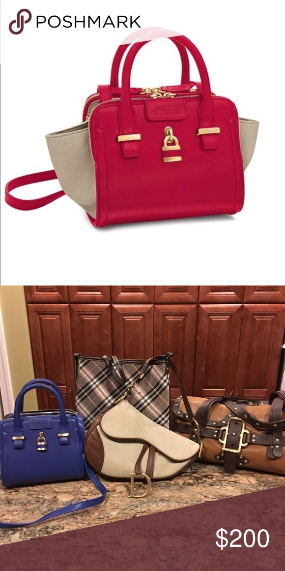 Like New Folli Follie Made in France. Shoulder bag Like New Folli Follie Chichi lock convertible bag. Blue and white leather.   As shown in pic 2 on the far left. Very stylish. Pics will be updated. Folli Follie  Bags Shoulder Bags