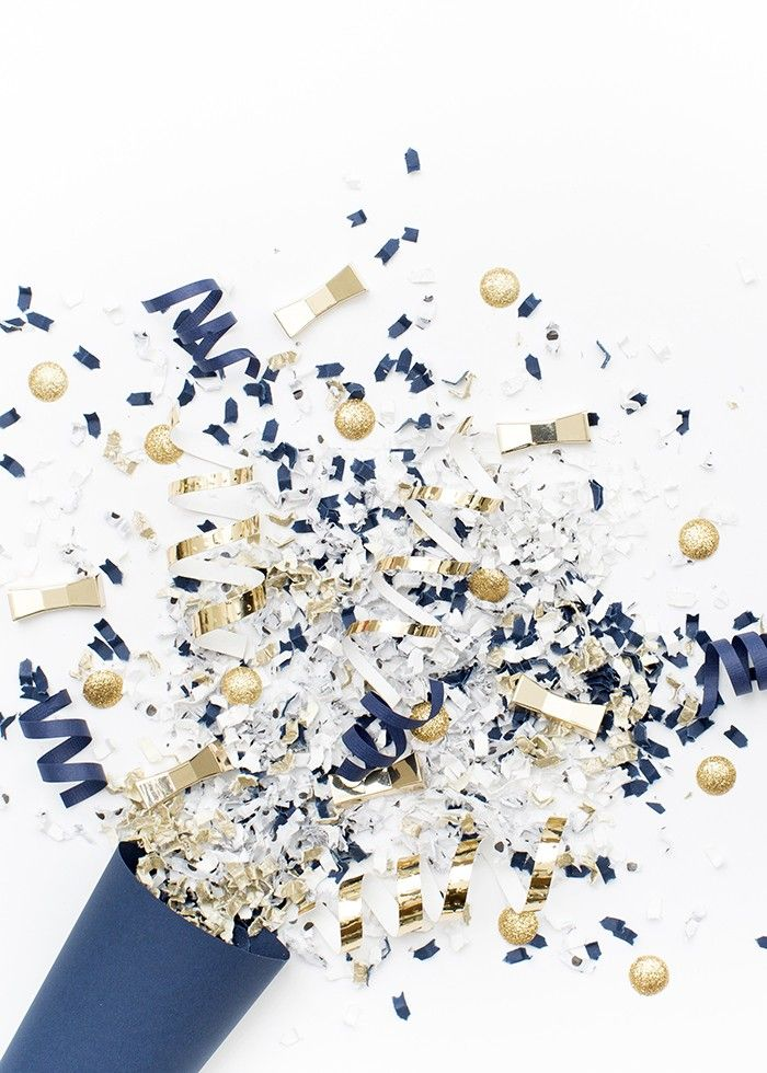 Styled Stock Photography | Navy, white, & gold confetti party image | Styled Stock Photography for creative business owners. Navy, white, & gold confetti image by SCstockshop Join the mailing list and get free styled stock images to your inbox every month: http://shaycochrane.com/sc-insider/
