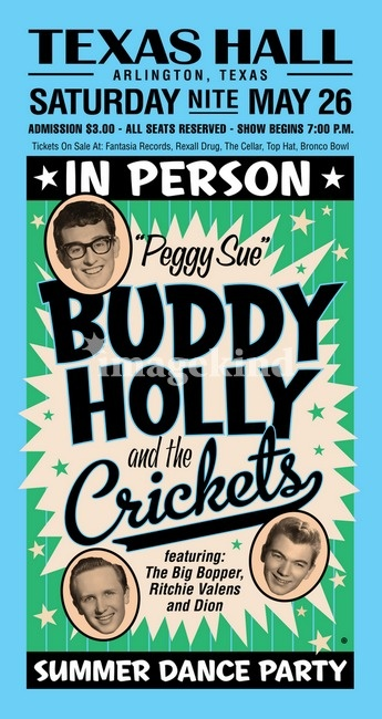 Buddy Holly and the Crickets with Ritchie Valens, The Big Bopper, and Dion.  A tour that soon ended in tragedy.