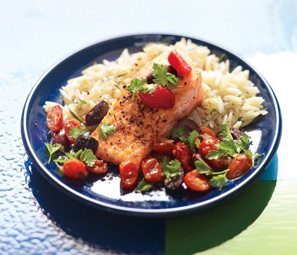 Six Healthy, Delicious Salmon Recipes: Food & Diet: Self.com : Each of these recipes features salmon, one of the most flavorful and easy-to-cook swimmers around. Dive in! #SELFmagazine