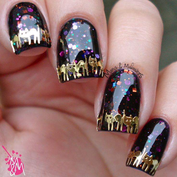 787 best nail art fall autumn and halloween images on pinterest manis makeovers hpb presents kitty catty halloween prinsesfo Gallery