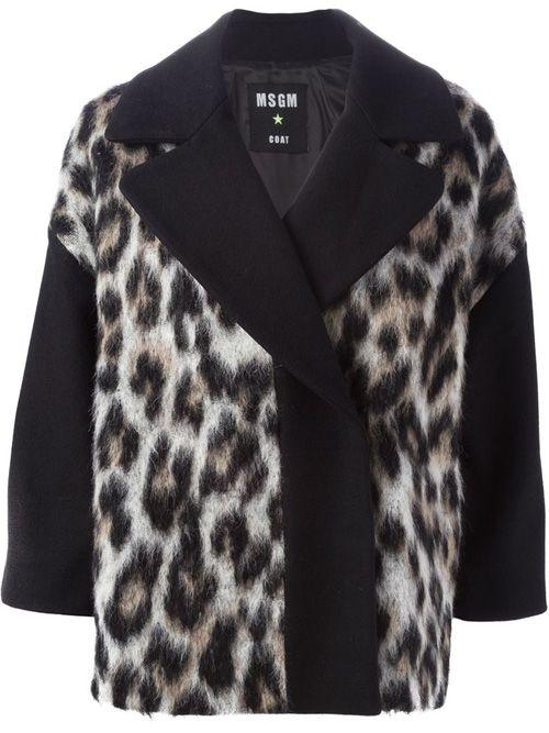 Женское пальто с животным принтом от MSGM