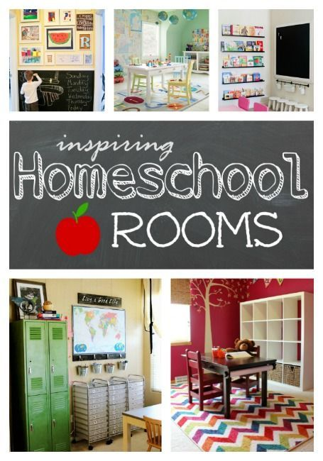 Great ideas for creating a wonderful Homeschool Room