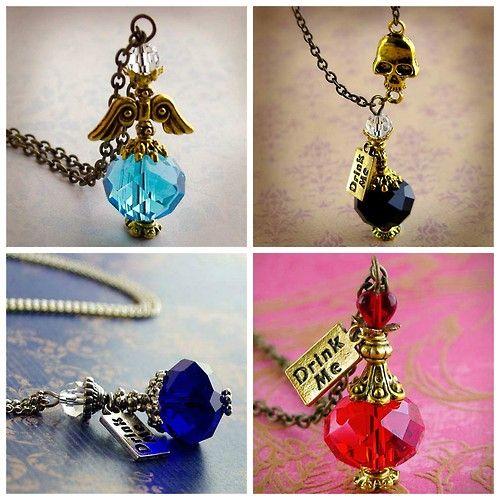 DIY Inspiration: Harry Potter Potion Bottle Necklaces from...