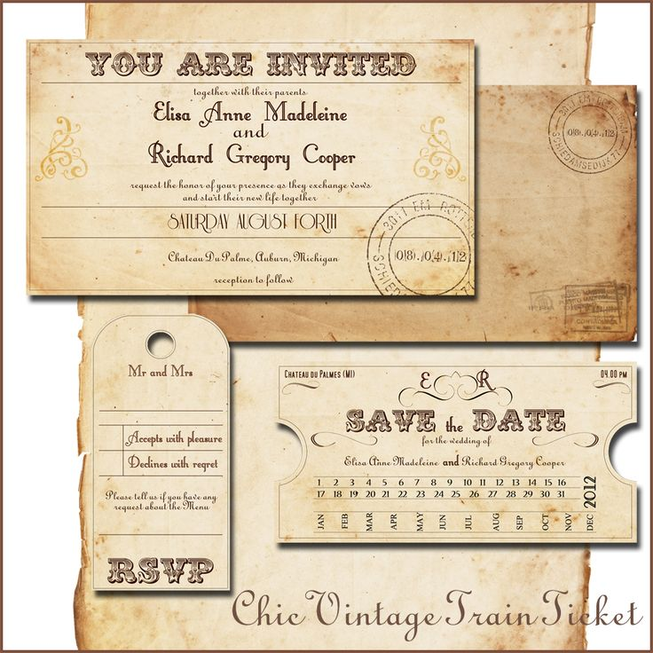 17 best Wedding Invitations images on Pinterest Ticket - prom ticket template