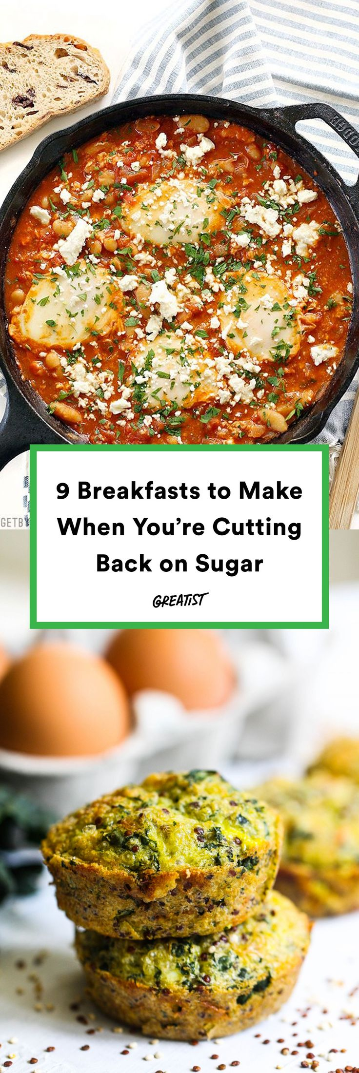 Because starting your day on the right foot can do wonders for your daily goals. #greatist https://greatist.com/eat/breakfast-recipes-to-make-when-you-cut-back-on-sugar