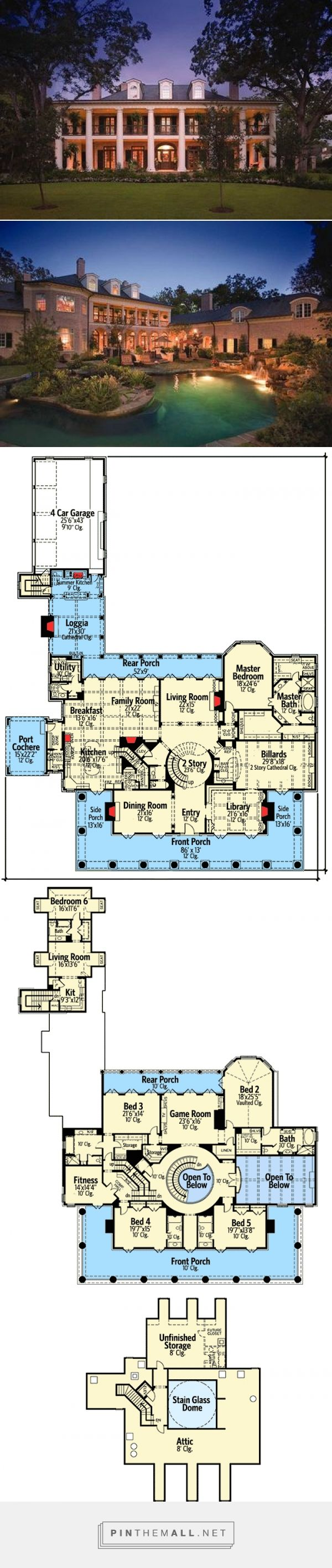 Plan 42156DB Your Very Own Southern Plantation