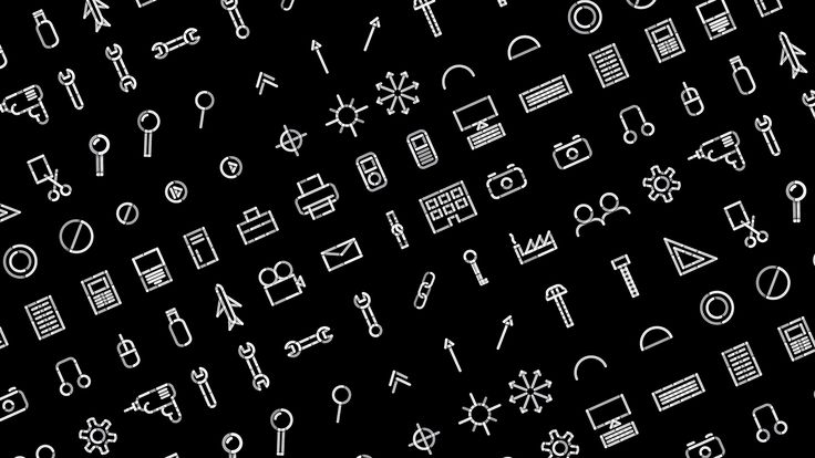 Icon set for Function Engineering by Sagmeister & Walsh.