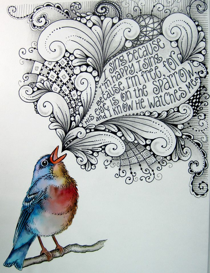 I sing because I'm happy, I sing because I'm free, For his eye is on the sparrow and I know he watches me